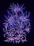 Wektorowa ręka rysująca ilustracja z kwiatami Obrazy Stock
