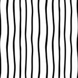 Wektorowa ręka rysujący organicznie bezszwowy wzór Czerni doodles kontur na białym tle Fotografia Stock