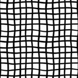 Wektorowa ręka rysujący organicznie bezszwowy wzór Czerni doodles kontur na białym tle Fotografia Royalty Free