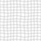 Wektorowa ręka rysujący organicznie bezszwowy wzór Czerni doodles kontur na białym tle Zdjęcie Stock