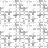 Wektorowa ręka rysujący organicznie bezszwowy wzór Czerni doodles kontur na białym tle Obraz Royalty Free