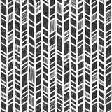 Wektorowa ręka rysujący plemienny wzór Bezszwowy pierwotny geometryczny tło z grunge teksturą Obrazy Stock