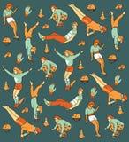 Wektorowa ręka rysujący wakacje letni bezszwowy wzór. Obraz Royalty Free