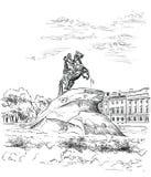 Wektorowa ręka rysuje ST Petersburg 3 royalty ilustracja