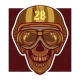 Wektorowa retro ilustracja ludzka czaszki głowa Fotografia Royalty Free