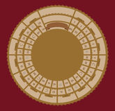 Wektorowa rocznik gra planszowa Obrazy Royalty Free