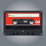 Wektorowa rocznik kaseta Zdjęcie Royalty Free