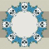 Wektorowa rocznik rama z czaszkami Obraz Royalty Free