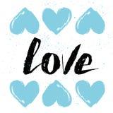 Wektorowa rocznik tekstura Ręki literowania kartka z pozdrowieniami Miłość atrament Fotografia Royalty Free