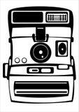 Wektorowa rocznika filmu fotografii kamera odizolowywająca na bielu ilustracja wektor