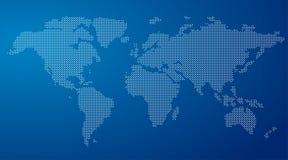 Wektorowa Round Kropkowana Światowa mapa Obrazy Stock