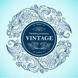 Wektorowa round kwiecista rocznik rama Grafika kreskowych rysunków kwiecisty ornament dla reklamować rabaty, zaproszenia, kartka  Zdjęcia Royalty Free