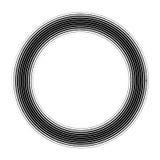 Wektorowa round rama Abstrakcjonistyczny graficzny elementu tło Obraz Royalty Free