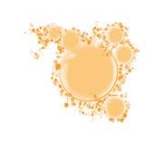 Wektorowa round rama dla tekstów pomarańczowych bąbli Obrazy Stock