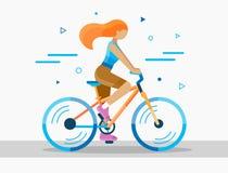 Wektorowa rowerowa ilustracja Obrazy Stock