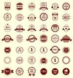Wektorowa rozmaitość Projektuje Retro rocznik odznaki ilustracji