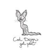Wektorowa rysunkowa kot ilustracja royalty ilustracja