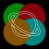 Wektorowa Saturn planety ikona ilustracja wektor