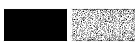Wektorowa siatka Wypełniający sieć prostokąt i mieszkanie ikona ilustracji