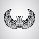 Wektorowa skarabeusz ściga, tatuażu styl Zdjęcia Royalty Free