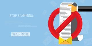 Wektorowa spamming sieci ikona Obraz Stock