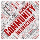 Wektorowa społeczność, socjalny, związek ilustracja wektor