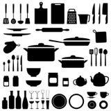 Wektorowa sylwetka kuchenni narzędzia Obraz Stock