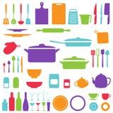 Wektorowa sylwetka kuchenni narzędzia Zdjęcie Royalty Free