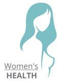 Wektorowa sylwetka piękny kobieta szablonu logo lub abstr Fotografia Stock