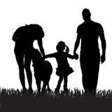 Wektorowa sylwetka rodzina ilustracja wektor