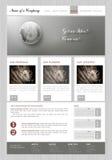 Wektorowa szablonu biznesu strona internetowa Obraz Royalty Free