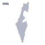 Wektorowa sześciokąt mapa Izrael na białym tle Obraz Stock