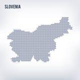 Wektorowa sześciokąt mapa Slovenia na szarym tle Obraz Stock