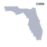 Wektorowa sześciokąt mapa stan Floryda na białym tle Obraz Royalty Free