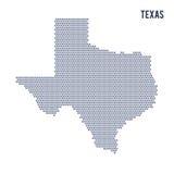 Wektorowa sześciokąt mapa stan Teksas na białym tle Zdjęcia Royalty Free