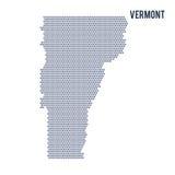Wektorowa sześciokąt mapa stan Vermont na białym tle Zdjęcia Royalty Free