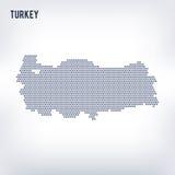 Wektorowa sześciokąt mapa Turcja na szarym tle Obrazy Stock
