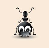 Wektorowa sztuka śliczna, śmieszna mrówki kreskówka dla książek/ ilustracja wektor