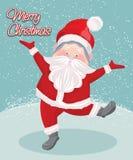 Wektorowa sztuka Bożenarodzeniowy Santa Claus dla kartka z pozdrowieniami royalty ilustracja