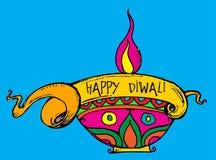 Wektorowa sztuka kolorowa Diwali metka lub sieć sztandar royalty ilustracja