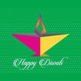Wektorowa sztuka kolorowa Diwali metka lub sieć sztandar ilustracja wektor