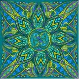 Wektorowa sztuka królewski jaskrawy bezszwowy wzór dla karty ilustracja wektor