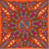 Wektorowa sztuka królewski jaskrawy bezszwowy wzór dla karty ilustracji
