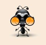 Wektorowa sztuka śliczna mrówki kreskówka z obuocznym royalty ilustracja