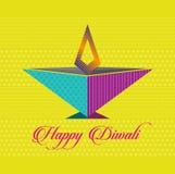 Wektorowa sztuka Szczęśliwy Diwali ilustracja wektor