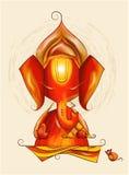 wektorowa sztuka władyka Ganesha w nakreśleniu royalty ilustracja