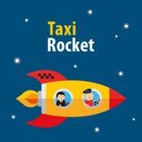 Wektorowa taxi rakiety ilustracja Zdjęcie Stock