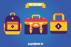 Wektorowa torby ikona Zdjęcia Royalty Free