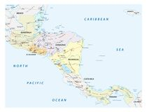 Wektorowa uliczna mapa stany środkowy America Zdjęcie Stock