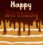 Wektorowa urodzinowa karta na tle z cukierki ilustracja wektor